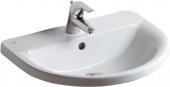 Ideal Standard Connect - Vasque à encastrer par le dessus pour meuble 550x460mm avec 1 trou de robinetterie avec trop-plein blanc avec IdealPlus