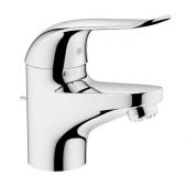 GROHE Euroeco Special - Mitigeur monocommande lavabo taille S adapté aux chauffes-eau à écoulement libre sans garniture de vidage chrome