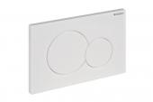 Geberit Sigma01 - Plaque de commande pour WC avec pour chasses d'eau à 2 volumes chrome ultra brillant / chrome ultra brillant