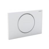 Geberit Sigma10 - Plaque de commande pour WC avec pour chasses d'eau à 1 volume acier inoxydable brossé / acier inoxydable brossé