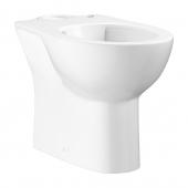 GROHE Bau Céramique - Cuvette sur pied à fond creux à poser pour réservoir attenant sans Rimless® blanc sans revêtement