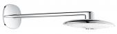 Grohe Rainshower SmartControl 360 Duo - Kopfbrauseset 3 Strahlarten Brausearm moon white