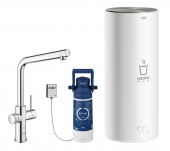 Grohe Red Duo - Armatur und Boiler L-Size L-Auslauf chrom