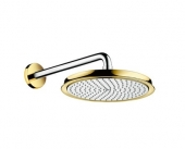 Hansgrohe Raindance Classic - Tellerkopfbrause 240 mm Air chrom / gold mit Brausearm 383 mm