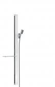 Hansgrohe Unica'E - Brausestange 900 mm weiß / chrom