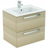 Ideal Standard Eurovit - Waschtisch Möbel-Paket 610 x 450 x 565 mm weiß / eiche hell