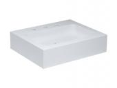 Keuco Edition 300 - Lavabo pour meuble 650x525mm avec 3 trous de robinetterie avec trop-plein couvert blanc sans revêtement