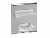 Keuco Plan - Module lavabo 3 aluminium / chromé