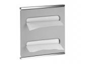 Keuco Plan - Module lavabo 2 aluminium / chromé