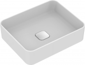 Ideal Standard Strada II - Aufsatzwaschtisch ohne Hahnloch ohne Überlauf 500 x 400 x 180 mm weiß