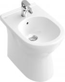 Villeroy & Boch O.novo - Bidet en porcelaine avec trop-plein sans Ceramicplus, 360 x 560 mm blanc alpin