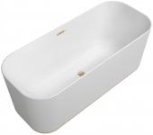 Villeroy & Boch Finion - Badewanne Ventil Überlauf Wasserzulauf Design-Ring champagne white alpin