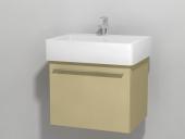 Duravit X-Large - Waschtischunterbau wandhängend Cappuccino Hochglanz Lack 550 mm