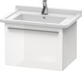 Duravit x-Large - Waschtischunterbau weiß hochglanz dekor 600 mm