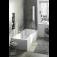 Ideal Standard Connect Air - Dusch-Badewanne Version rechts 1700 x 800 x 465 mm weiß environemntal