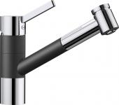 Blanco Tivo-S - Küchenarmatur Silgranit-Look zweifarbig Hochdruck anthrazit/chrom