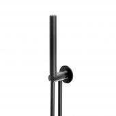 Steinberg Serie 100 S - Handbrausegarnitur mit integriertem Brauseanschlussbogen schwarz
