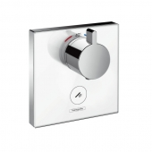 Hansgrohe ShowerSelect - Glas Thermostat Highflow chrom / weiß