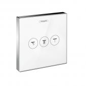 Hansgrohe ShowerSelect - Ventil für 3 Funktionen chrom / weiß