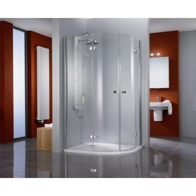 HSK - Circular shower quadrant, 4-piece, Premium Classic Custom-made, 41 chrome-look, 100 Glasses art center
