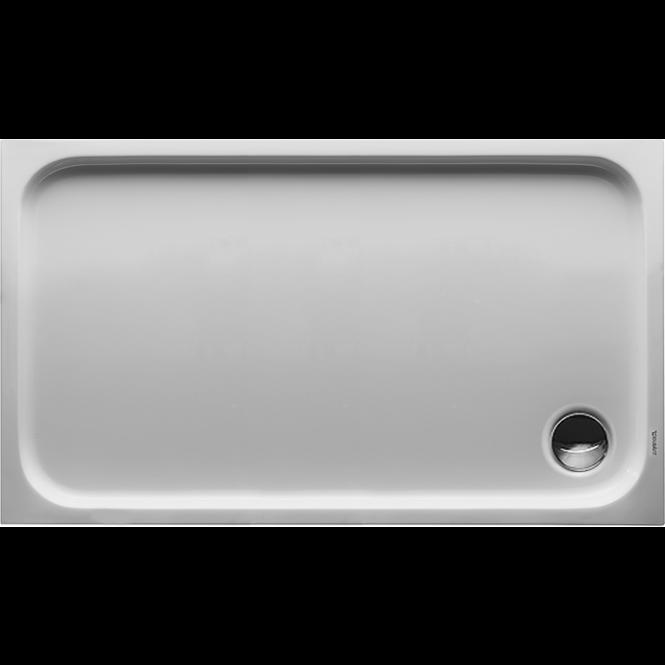 Duravit D-Code - Duschwanne 1200 x 700 x 85 mm Rechteck mit Antislip weiß
