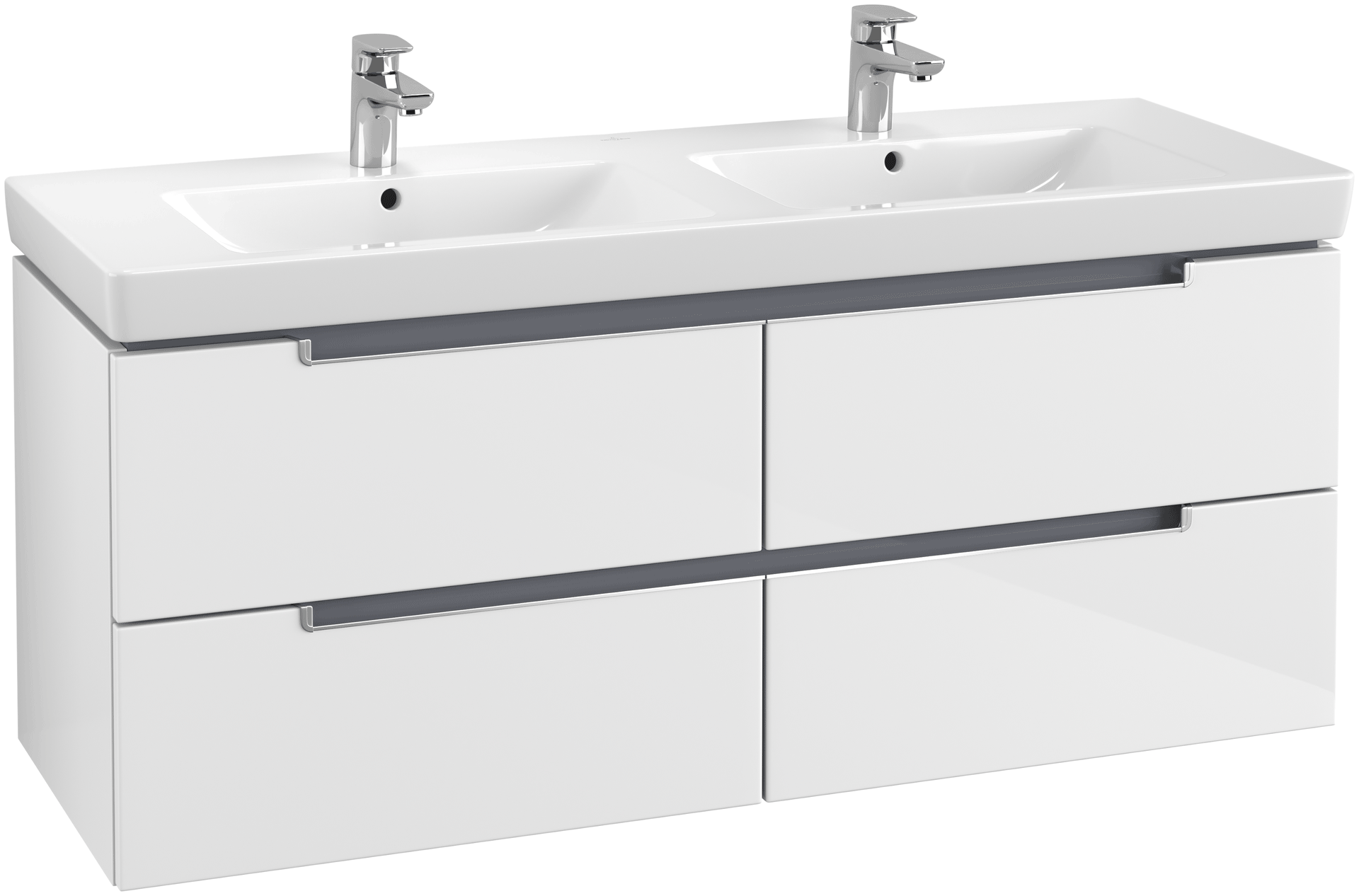 Villeroy Boch Subway 2 0 Vanity Unit 1287 With 4 Drawers Glossy White Xtwostore