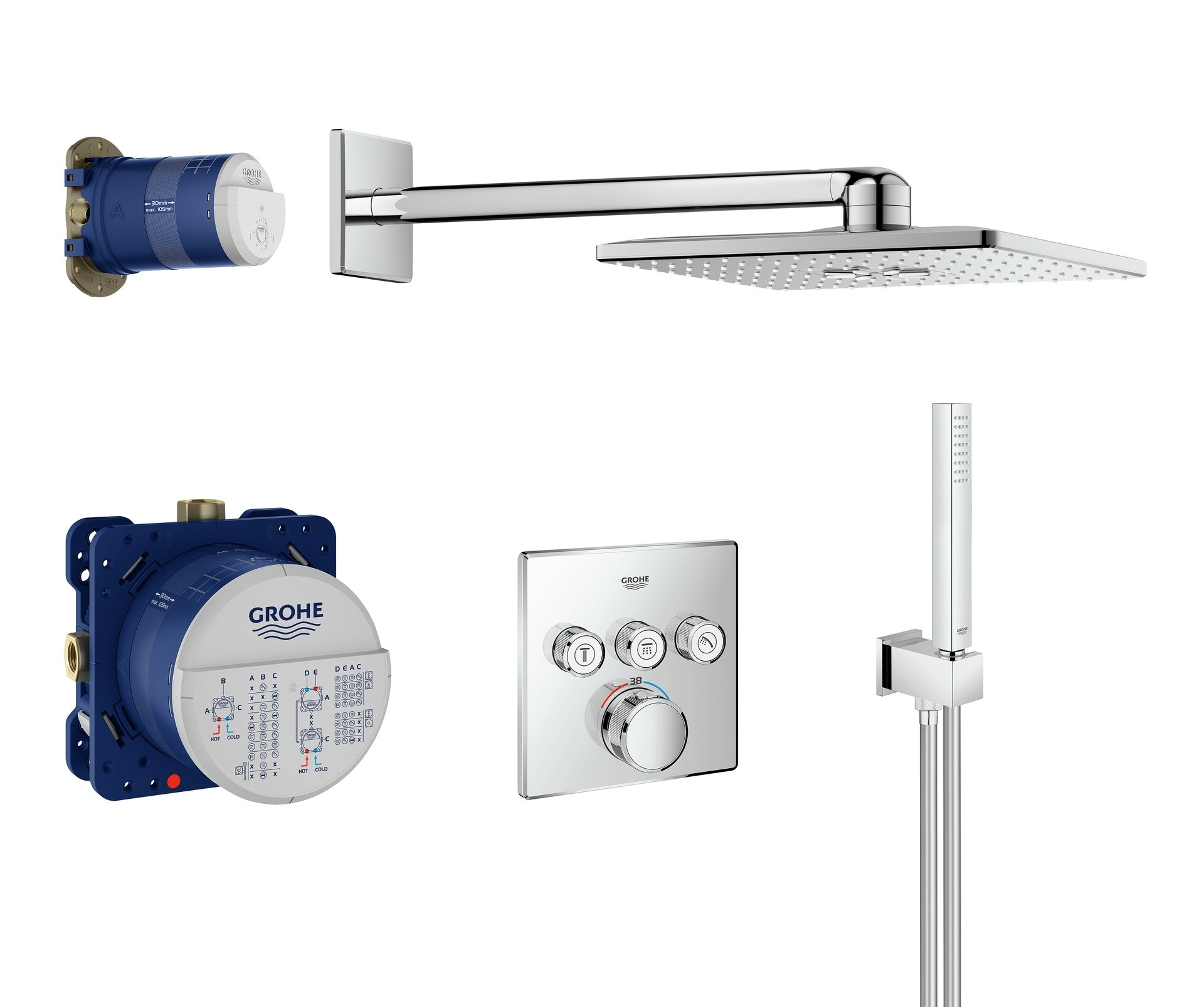 GROHE Grohtherm SmartControl - Set