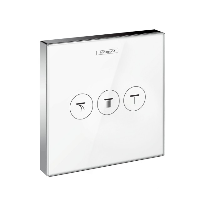 hansgrohe showerselect concealed thermostat for 3 outlets with select