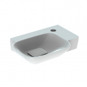 Geberit myDay - Handwaschbecken 400 x 280 mm mit Hahnloch rechts ohne Überlauf weiß mit KeraTect