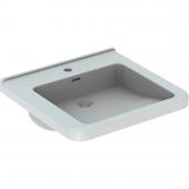 Geberit Renova Nr. 1 Comfort - Waschtisch unterfahrbar 550 x 525 mm mit Hahnloch mit Überlauf weiß