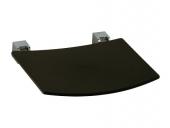Keuco Plan - Foldable seat chrome-plated / light gray