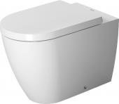 Duravit ME by Starck - Stand-Tiefspül-WC back to wall weiß matt/weiß mit HygieneGlaze