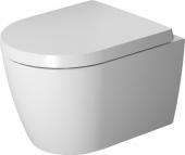 Duravit ME by Starck - Wand-Tiefspül-WC 480 mm mit Durafix rimless weiß/weiß seidenmatt WonderGliss