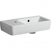 Geberit Renova Nr. 1 Comprimo - Handwaschbecken 500 x 250 mm Hahnloch links weiß mit KeraTect