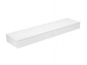 Keuco Edition 400 - Sideboard 31770 2 Auszüge weiß / Glas weiß klar