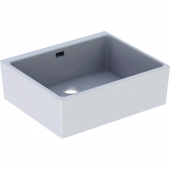 Geberit Publica - Spülstein mit Überlauf 600 x 200 x 500 mm weiß