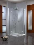 HSK Premium Classic - Corner entry, Premium Classic, 41 custom-made chrome-look, 100 Glasses art center
