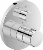 Duravit C.1 - Brausethermostat Unterputz mit Abstell- / Umstellventil rund 195 x 195 x 195 mm