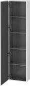 Duravit L-Cube - Hochschrank 400 x 1760 x 243 mm mit 1 Tür & 4 Glasfachböden & Anschlag links weiß matt