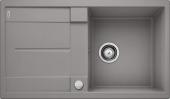 Blanco Metra - Spüle 5 S Silgranit PuraDur mit Ablauffernbedienung reversibel alumetallic