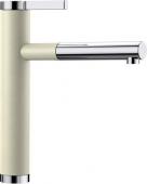 Blanco Linee-S - Küchenarmatur Silgranit-Look zweifarbig Hochdruck jasmin/chrom