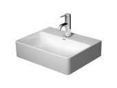 Duravit DuraSquare - Handwaschbecken 450 mm ohne Überlauf 1 Hahnloch weiß WonderGliss