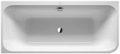 Duravit Happy D.2 Plus - Badewanne 1800x800 mm mit Verkleidung Eckeinbau links weiß/graphit matt