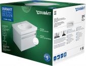 Duravit Ketho - Set Waschtischunterschrank 650 mm inklusive D-Code Waschtisch weiß hochglanz