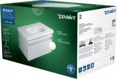 Duravit Ketho - Set Waschtischunterschrank 850 mm inklusive D-Code Waschtisch weiß hochglanz