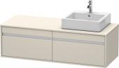 Duravit Ketho - Waschtischunterschrank 550 x 1400 x 426 mm 2 Auszüge taupe