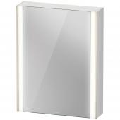 Duravit XViu - Spiegelschrank mit Beleuchtung 800x620x156 Sensor schwarz matt Anschlag links