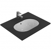 Ideal Standard Connect - Undercounter washbasin 550x380mm without tap holes with overflow white with IdealPlus