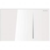 Geberit Sigma70 - Betätigungsplatte für 2-Mengen-Spülung glas weiß