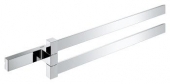 Grohe Selection Cube - Doppel-Handtuchhalter Metall 2-armig 400 mm chrom